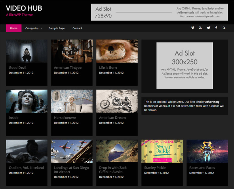 27 responsive premium video themes