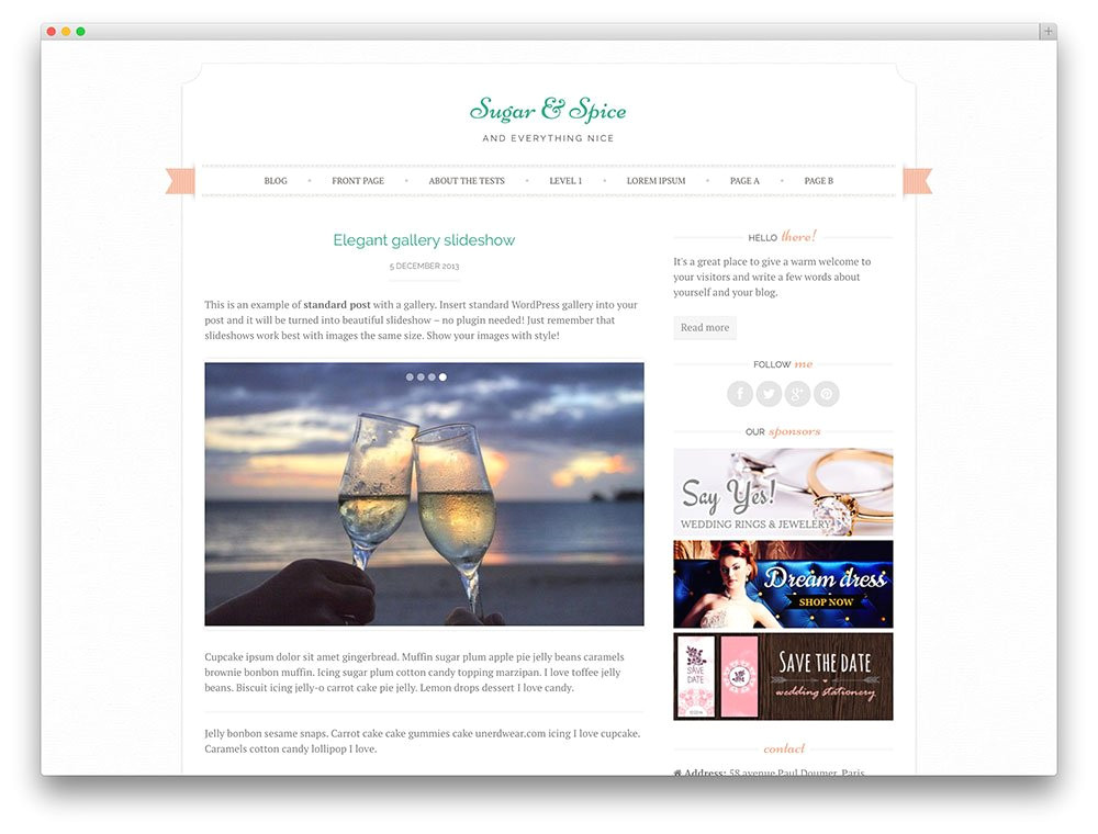 free wedding themes