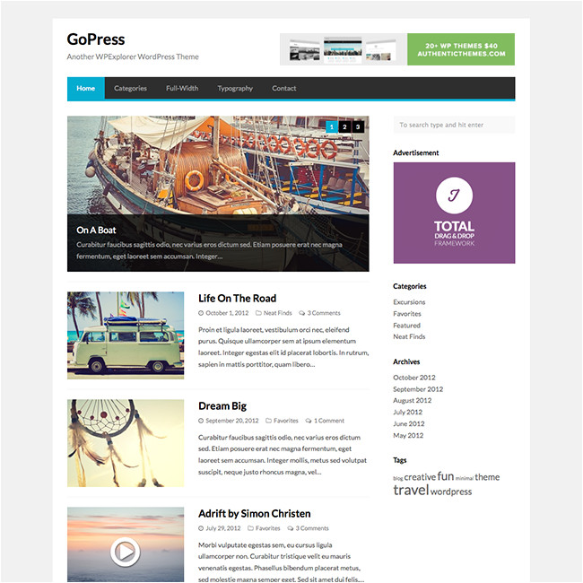 gopress theme