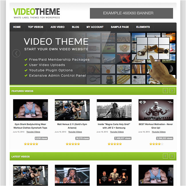 video theme theme