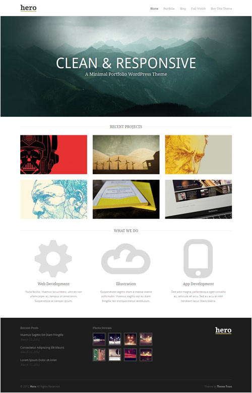 Worpress Template 50 Best Responsive WordPress themes