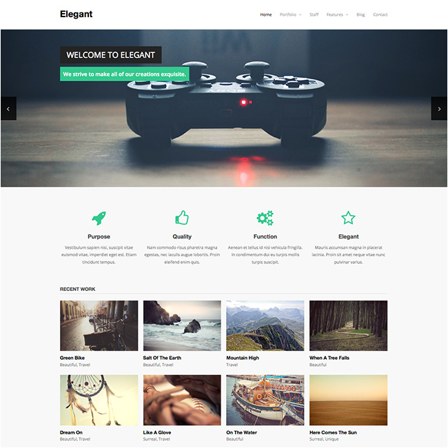Worpress Template Elegant Free WordPress theme Wpexplorer