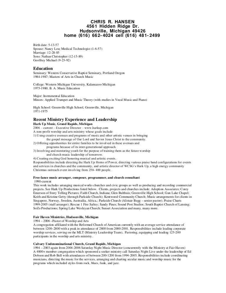 Worship Leader Cover Letter Worship Leader Resume Example Free Resume Sample