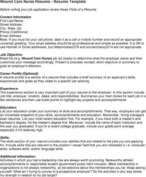 Wound Care Nurse Resume Sample Resume Service Ratings