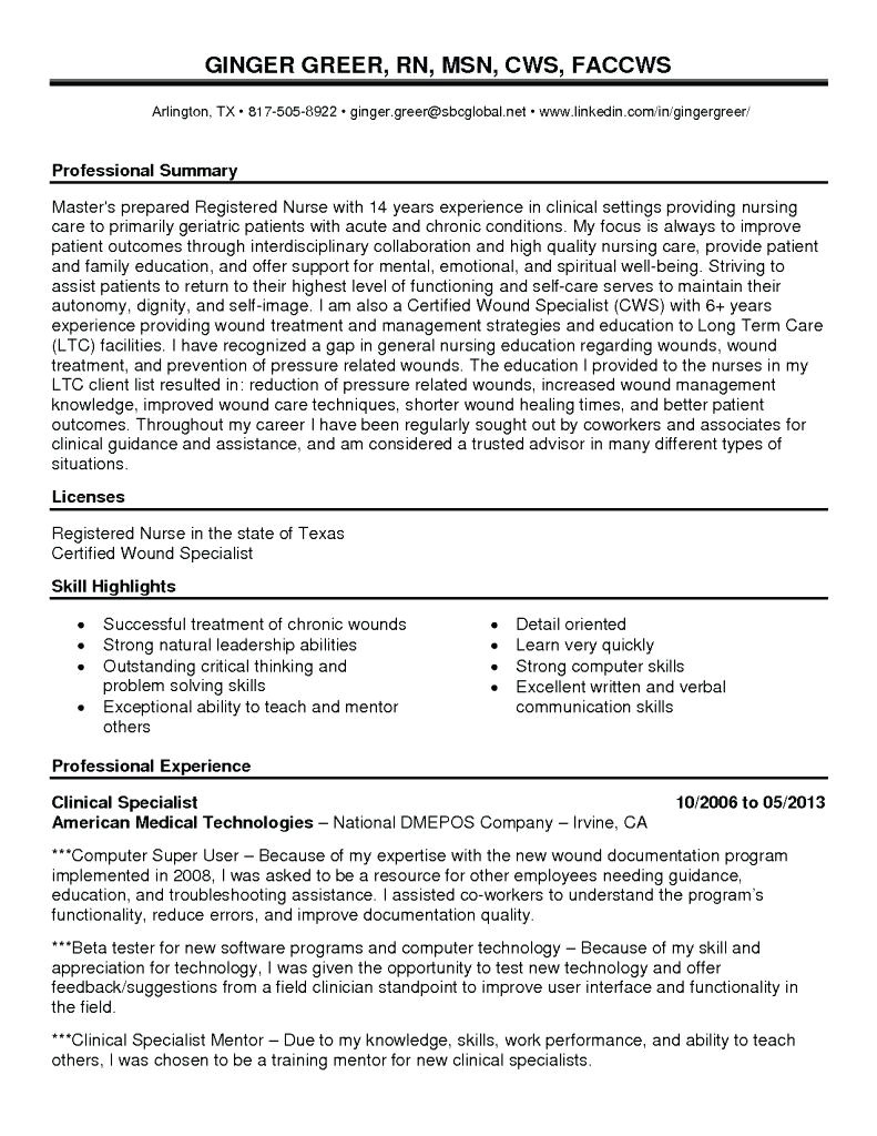 wound nurse cover letter