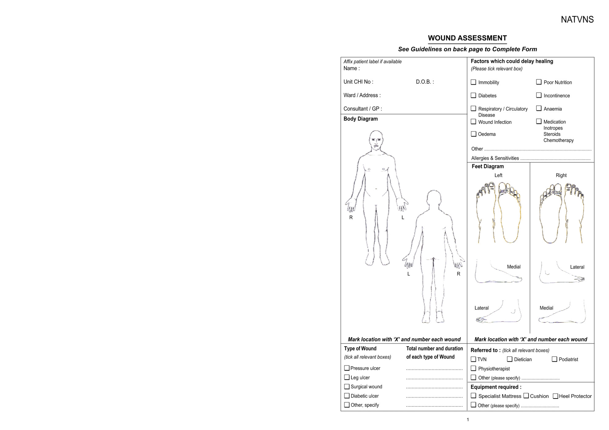 wound documentation example