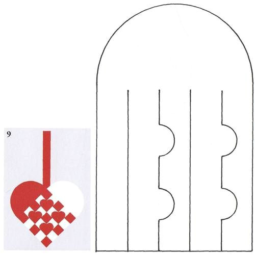 Woven Heart Basket Template Flettehjerter Sadan Fletter Du Julehjerter Masser Af