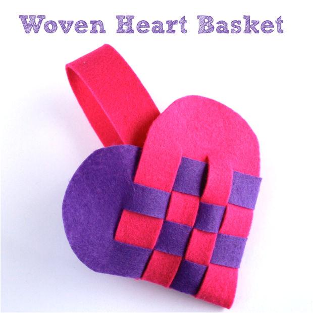 Woven Heart Basket Template Woven Heart Basket