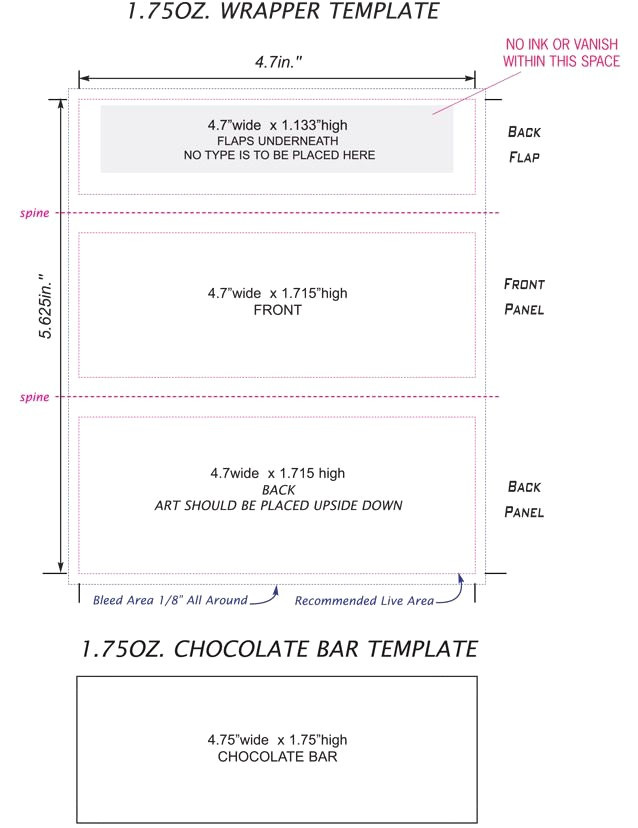 free candy bar wrapper template photoshop