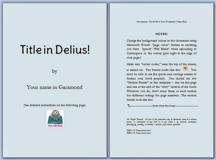 Write A Book Template Microsoft Word Free Children 39 S Book Template Signup Write Kids 39 Books