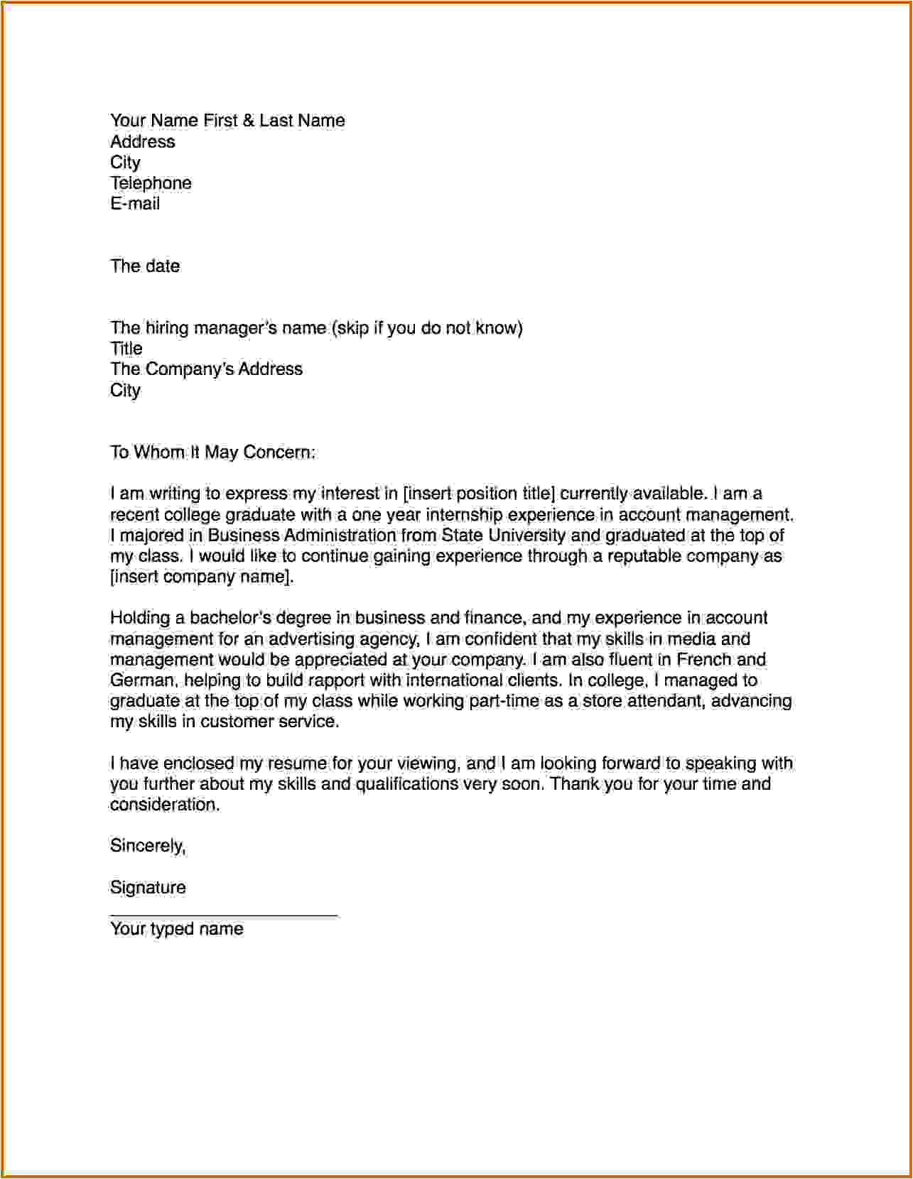 Writing A Cover Letter to A Company 6 How to Write A Cover Letter Example Lease Template