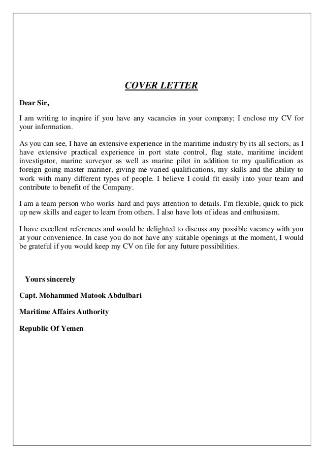 Writing A Covering Letter for Cv Mohammed Matook Cover Letter Cv