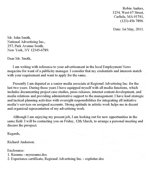 amazing cover letter example