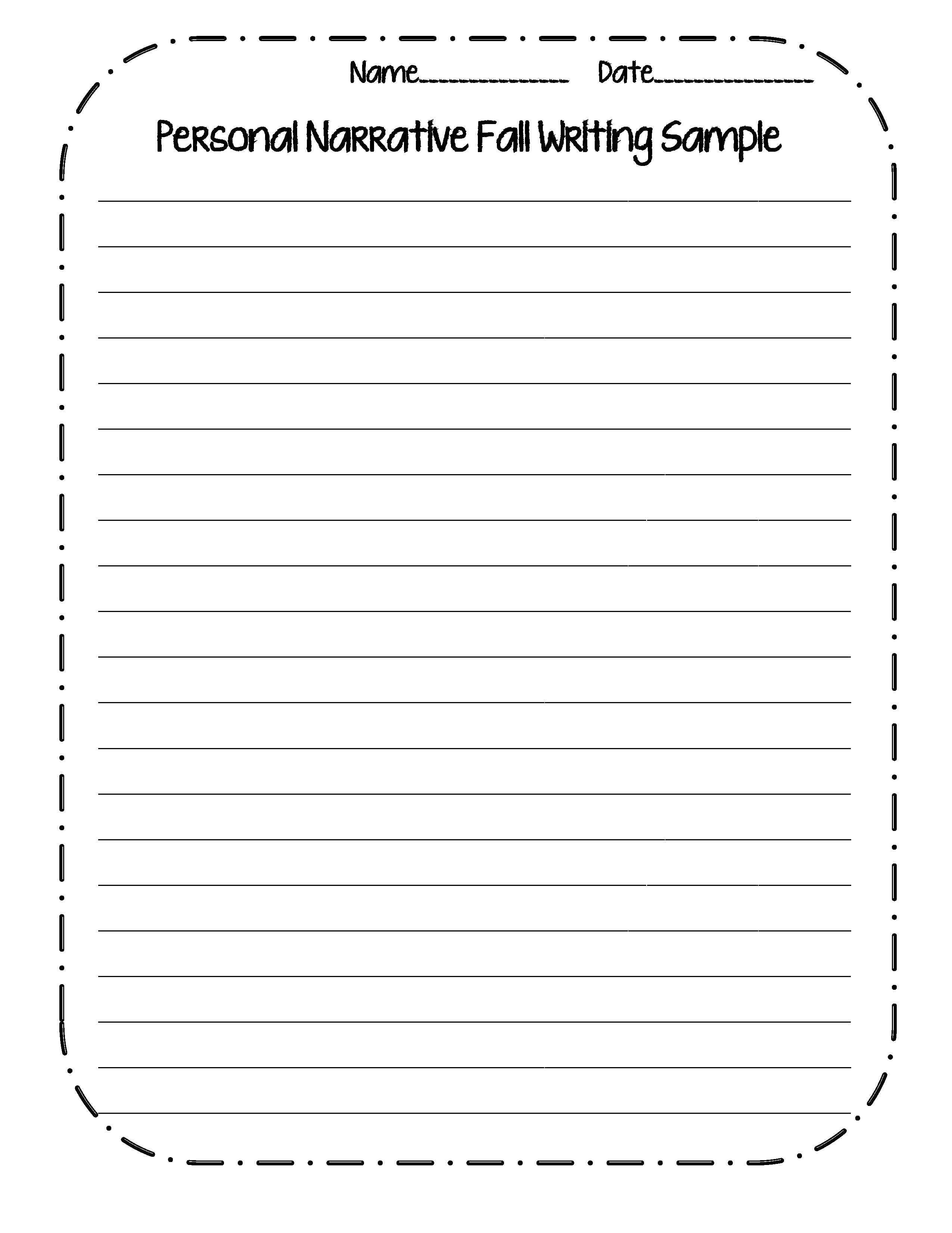 post personal narrative writing worksheets 480331