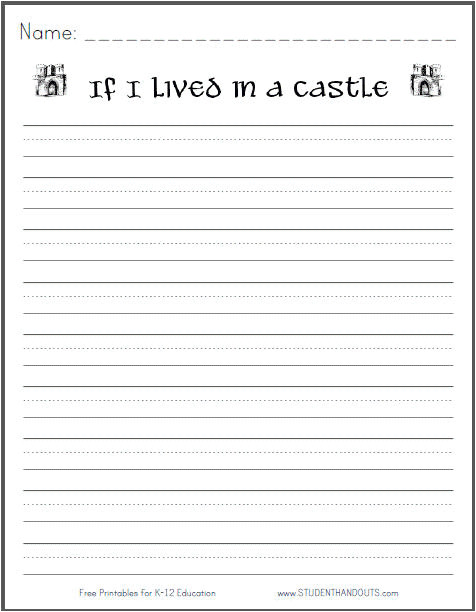 if i lived in a castle writing prompt
