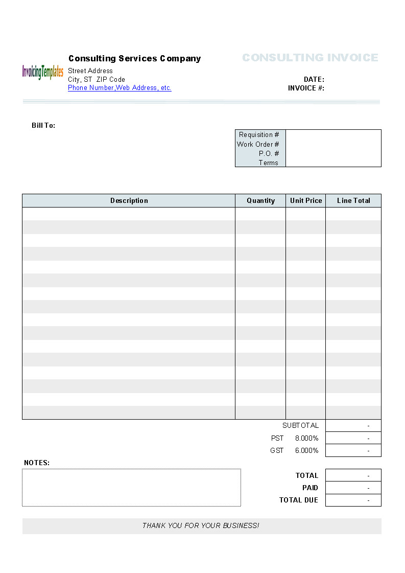 free invoice templates for mac