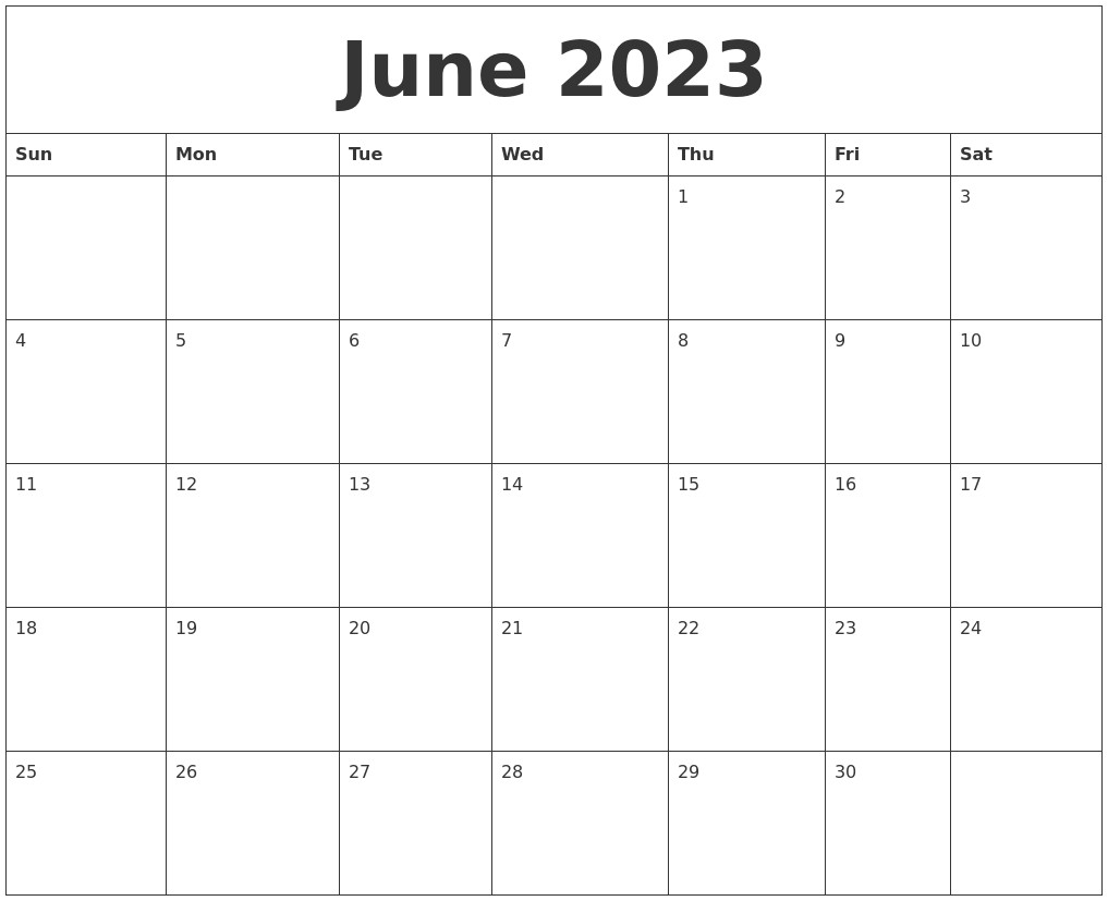 Www.templates.com June 2023 Free Printable Calendar Templates