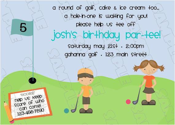 miniature golf putt putt birthday party