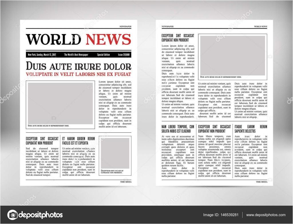 tabloid article template