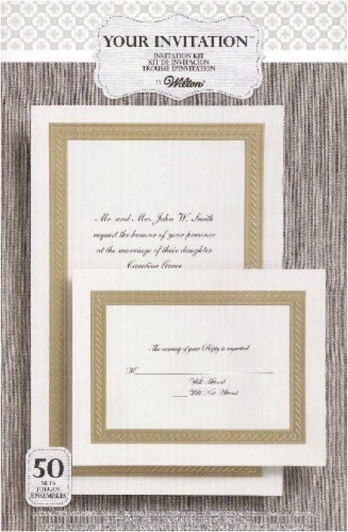 wilton braided elegance embossed invitation kit 50 count
