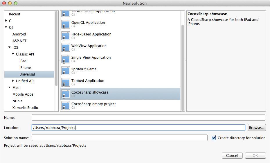 Xamarin Studio Code Templates Cocossharp Project Templates for Xamarin Studio Xamarin
