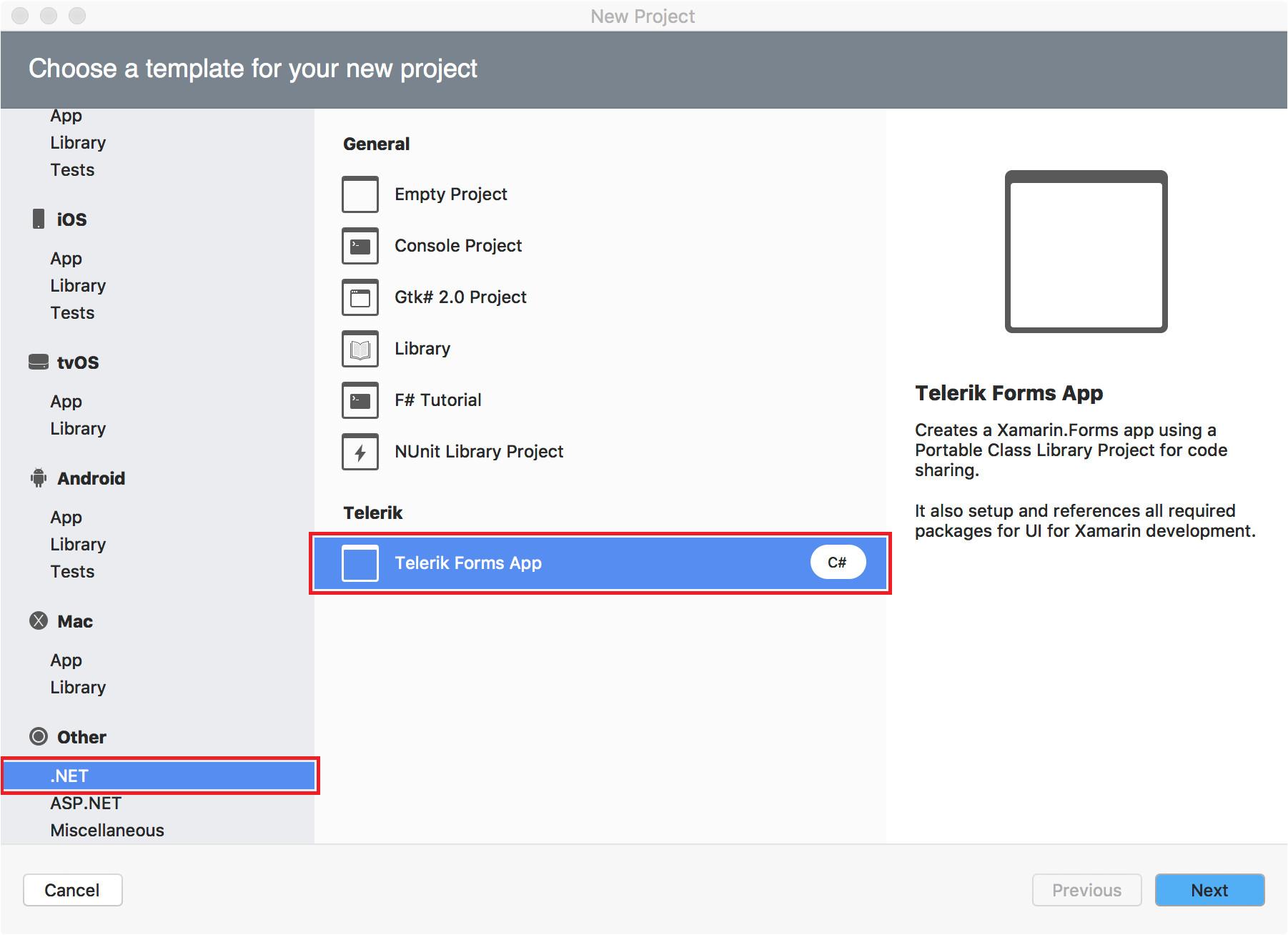 Xamarin Studio Code Templates Project Wizard for Xamarin Studio