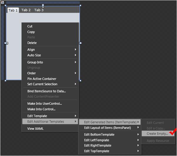 item templates and selectors