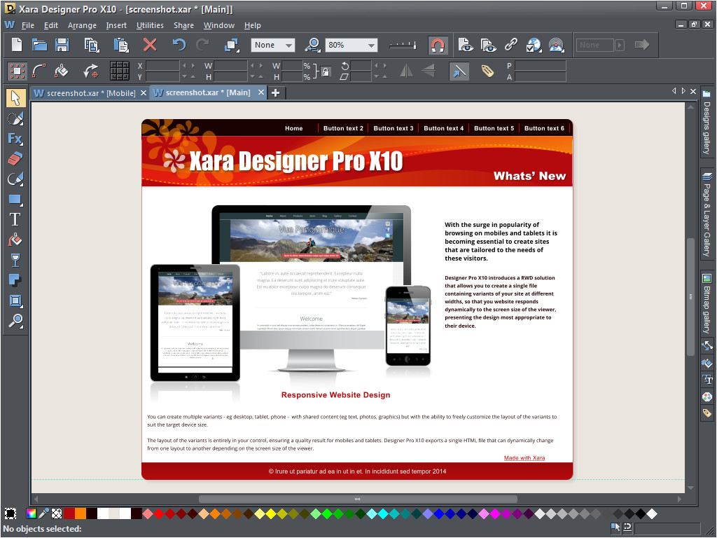 xara web designer 7 premium content pack download