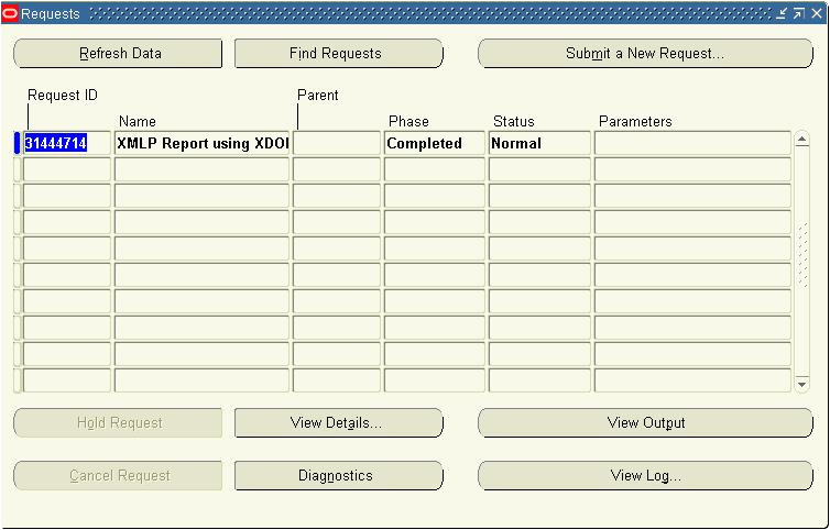 xml publisher using data template and