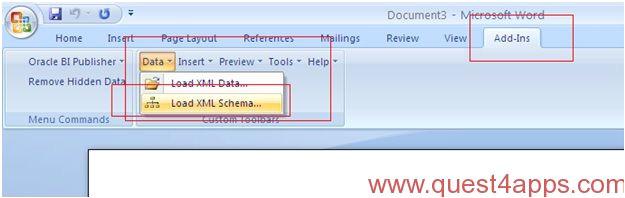 xml report from xml data template