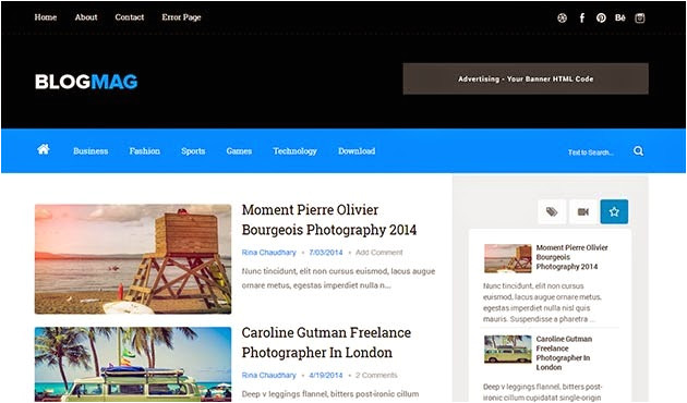 blogmag clean responsive blogger template free download
