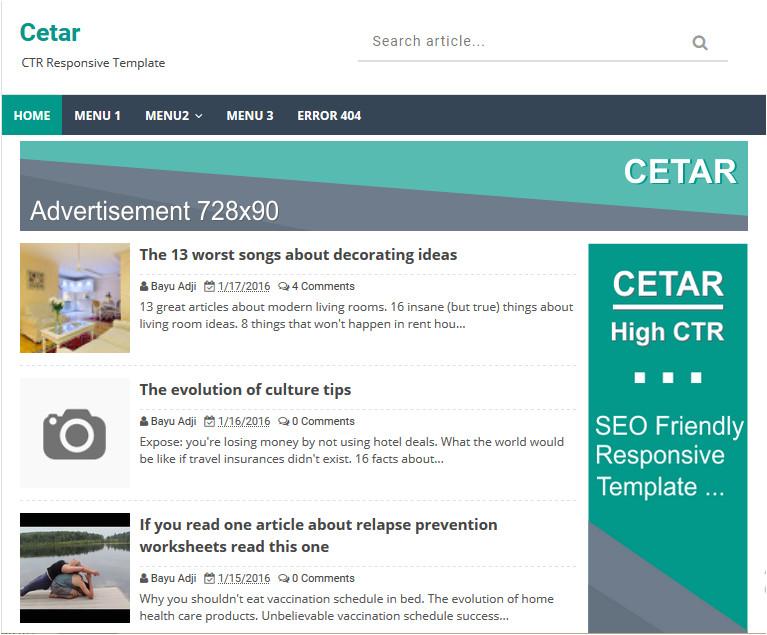 cetar high ctr responsive blogger