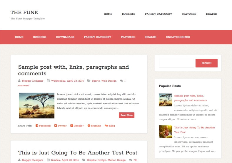 the funk simple blogger template
