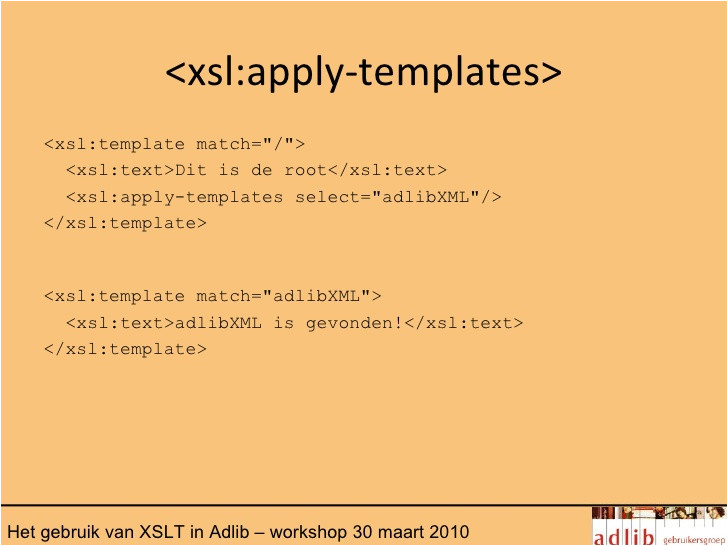 het gebruik van xslt in adlib