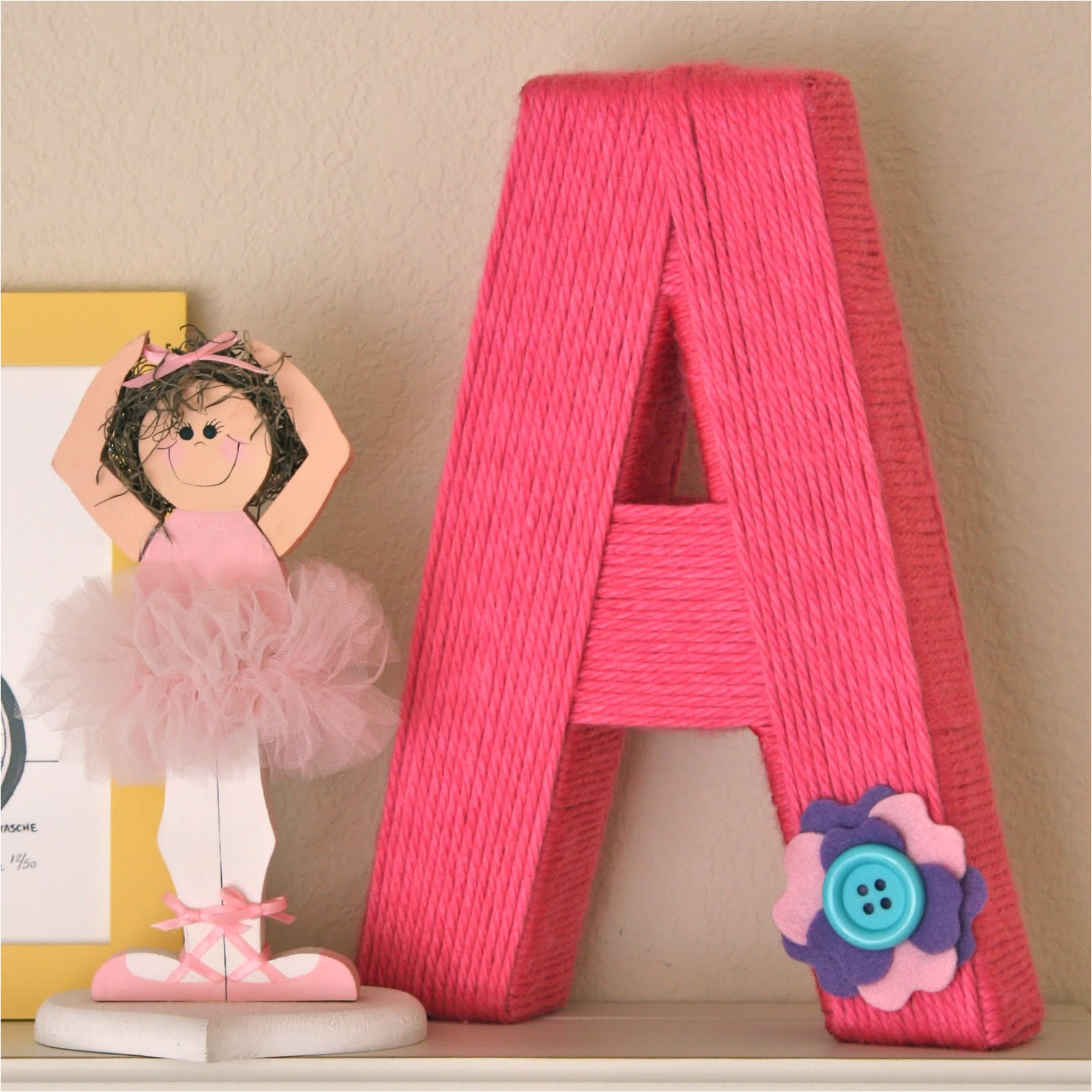 yarn wrapped letters m 1