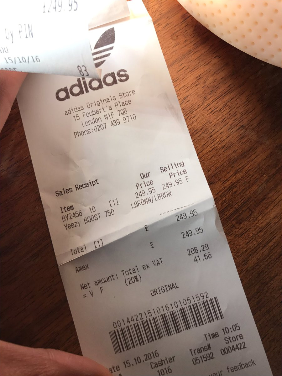 yeezy receipt template 964