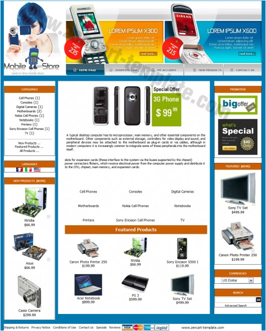 mobile store template
