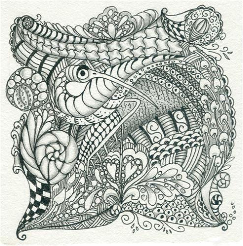 Zentangle Tile Template Zentangle Pattern Gallery Zentangle Peacock