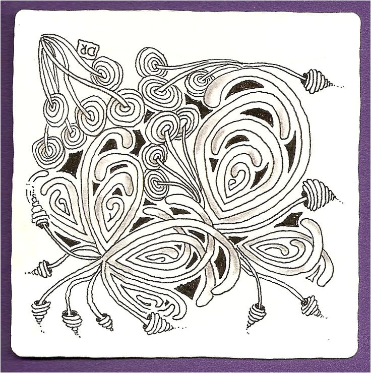 zentangle tile template