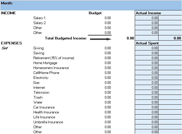 Zero Balance Budget Template Free Budget Templates In Excel for Any Use