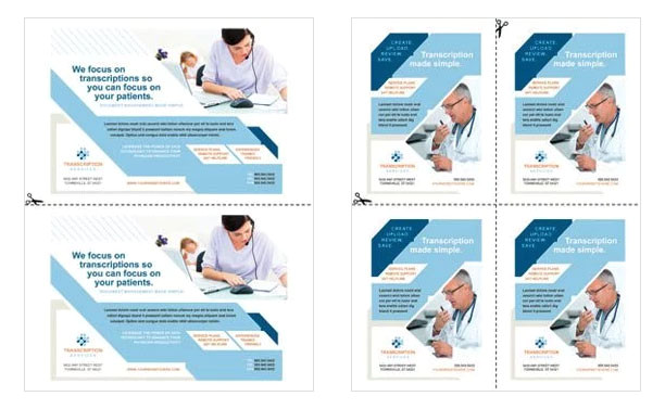 1 4 page flyer template free