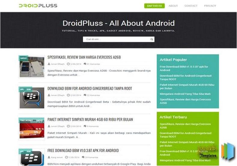 droidpluss responsive blogger template