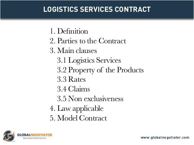 logistics services contract