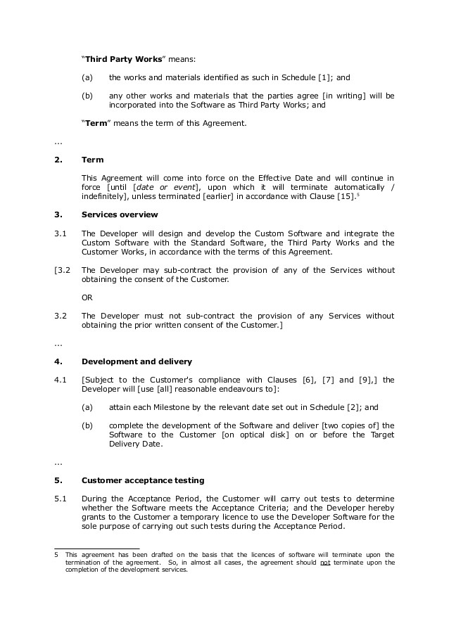 sample softwaredevelopmentagreement 1