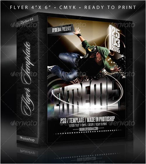 2297 graphicriver extreme 3d flyer template 4x6