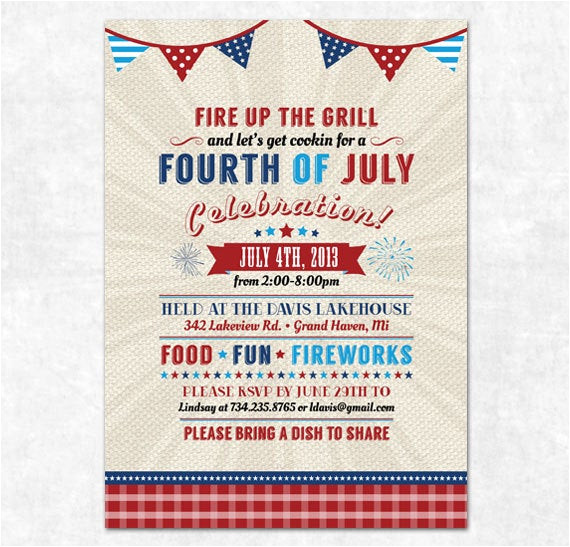 printable 4th of july invitation fourth
