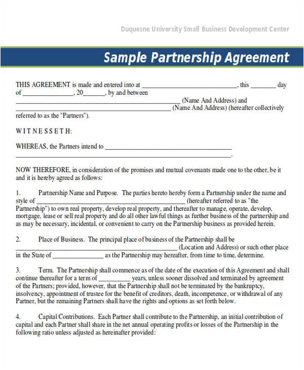 50 50 partnership agreement template