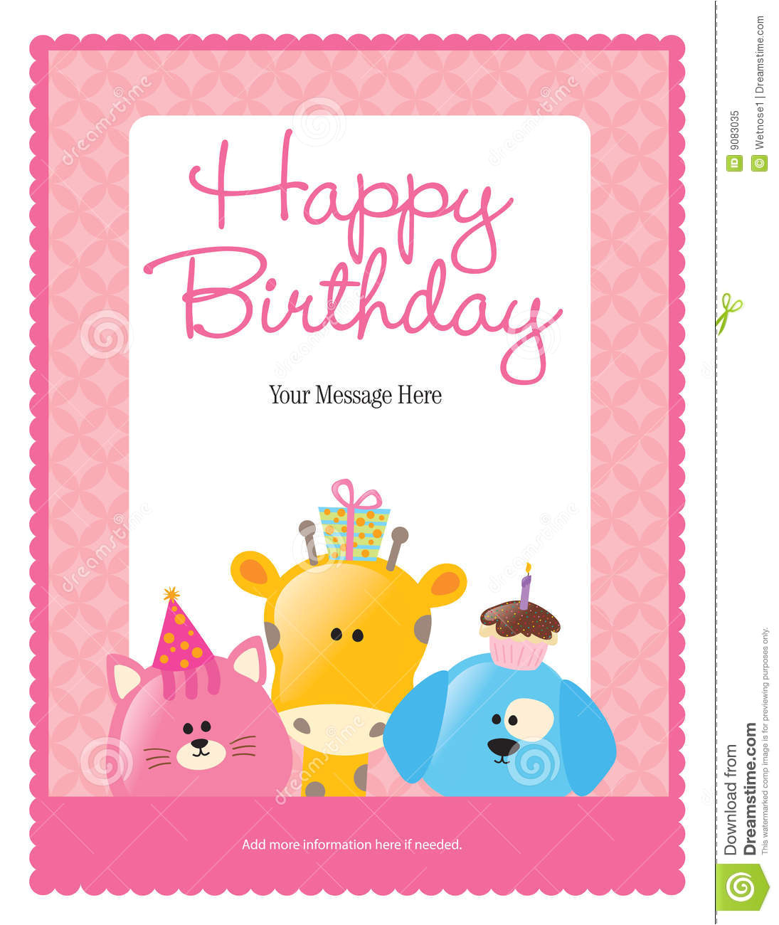 royalty free stock photo 8 5x11 birthday flyer poster template image9083035