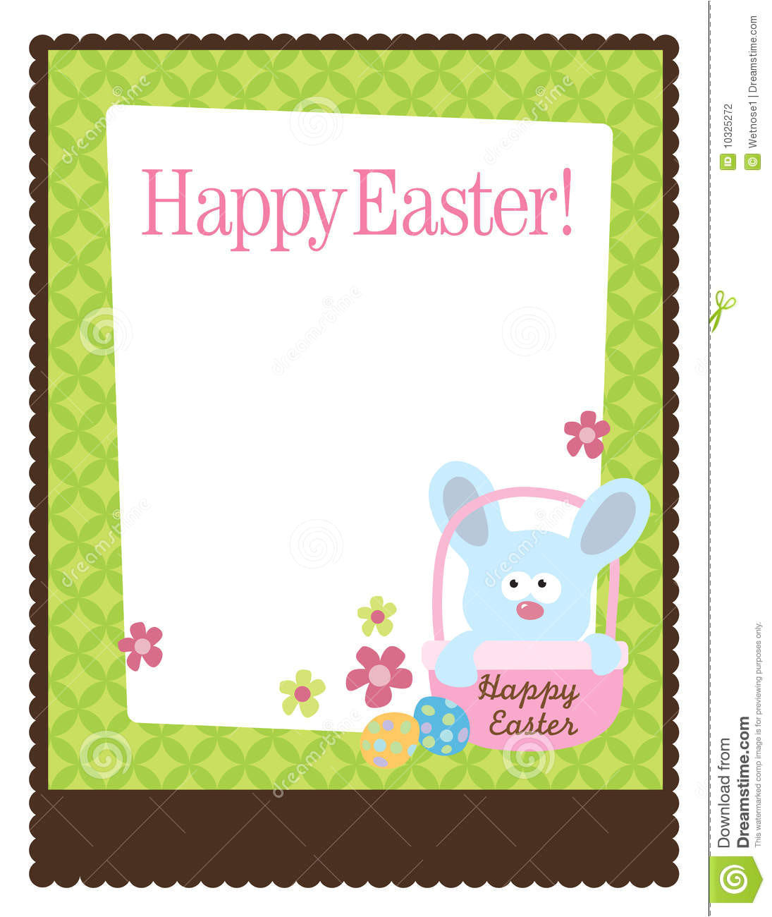 stock photography 8 5x11 easter flyer template image10325272