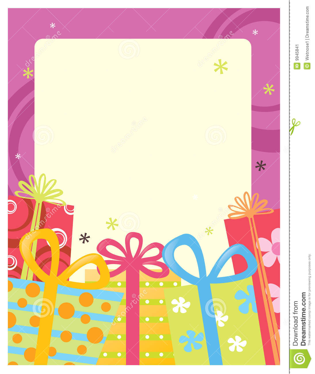 stock image 8 5x11 flyer poster template image9945841
